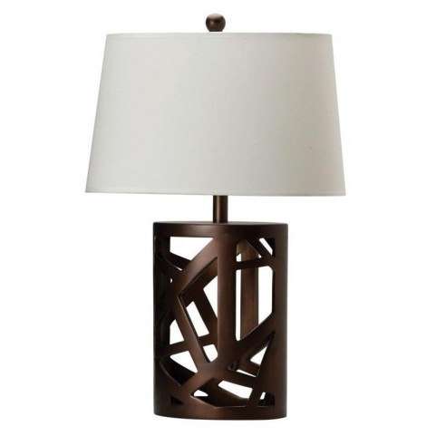 White Table Lamp with Shade 901256