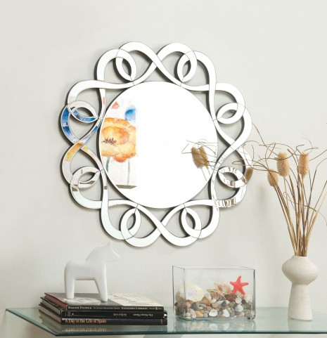 Decorative Swirls Frameless Mirror
