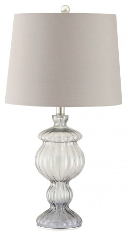 901524 Smoked Glass Table Lamp