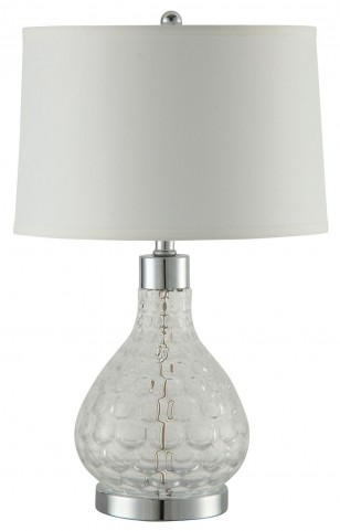 901547 Chrome Table Lamp Set of 2