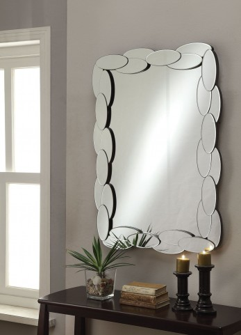 Oval Shape Framed Mirror