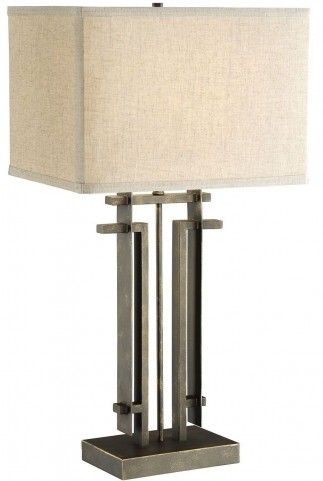 Black Rectangle Table Lamp