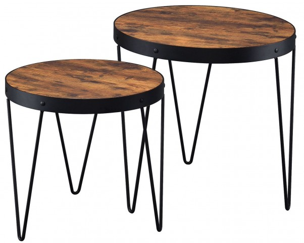 Honey Cherry Nesting Table