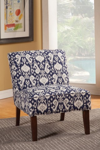 902028 Blue Accent Chair