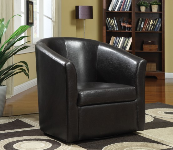 902098 Dark Brown Swivel Chair