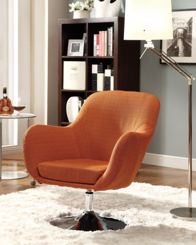 902148 Orange Swivel Chair
