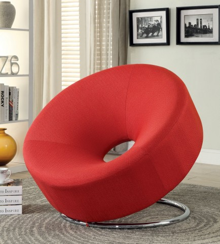 902252 Red Donut Shape Chair