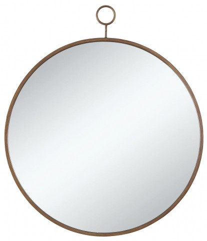 Gold Circular Accent Mirror