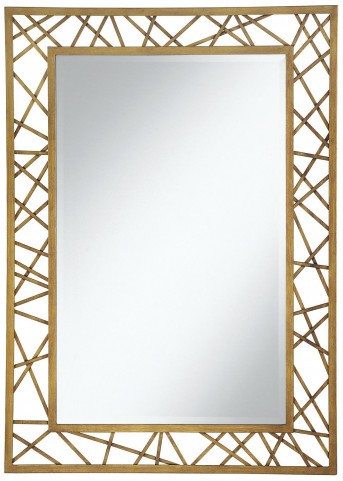 Gold Geometric Accent Mirror