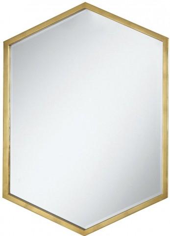 Gold Hexagon Accent Mirror