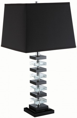 Black and Clear Table Lamp