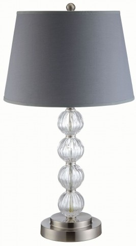 Grey and Chrome Table Lamp