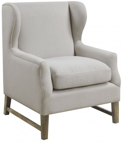 Oatmeal Linen-Like Fabric Chair