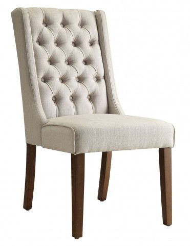 902502 Beige Accent Chair Set of 2