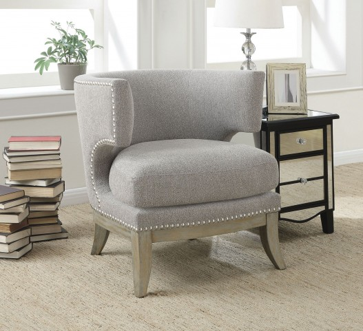Grey Chenille Accent Chair