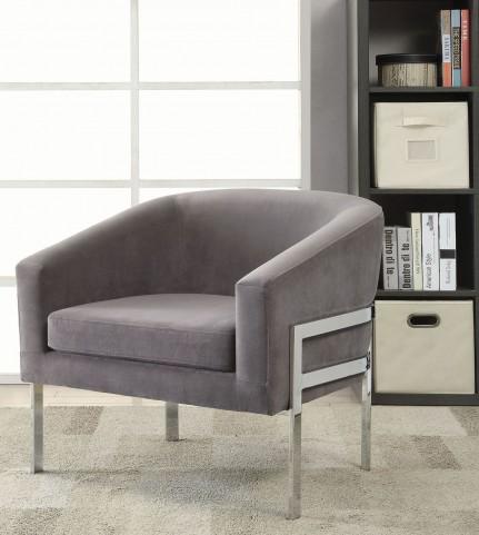 Grey Velvet Accent Chair