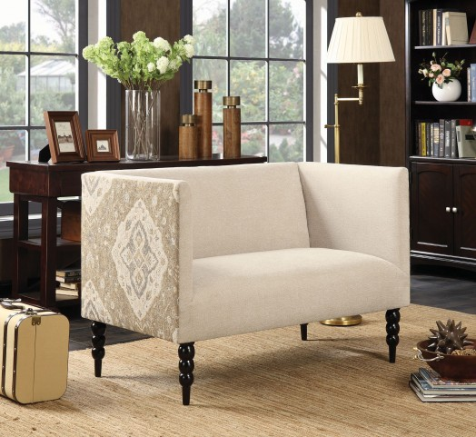 Beige and Black Settee