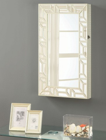 Cheval Champagne Wall Mounted Jewelry Armoire