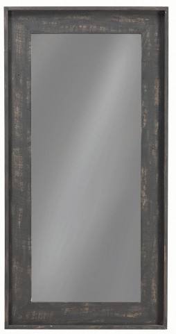 "24"" Distressed Black Floor Mirror"
