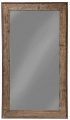 "36"" Distressed Black Floor Mirror"