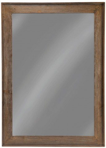 "48"" Distressed Brown Floor Mirror"