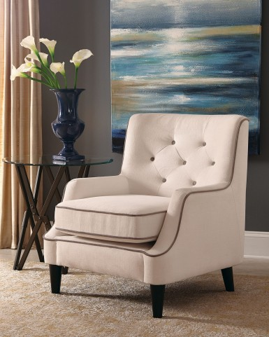 White and Grey Fabric Chair by Donny Osmond