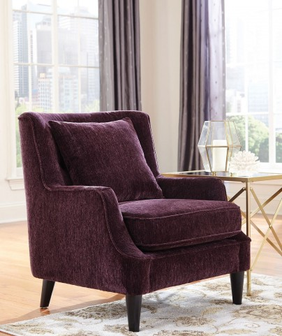 Eggplant Fabric Arm Chair