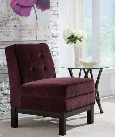 Eggplant Fabric Chair