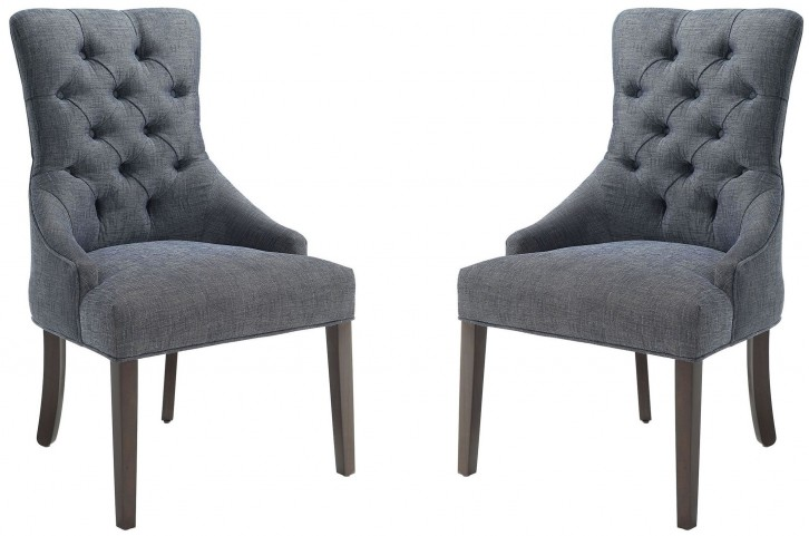 Caprice Grey Upholstered Accent Chair Set of 2