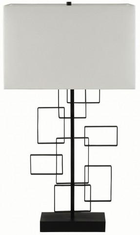 Rectangular White Shade Table Lamp