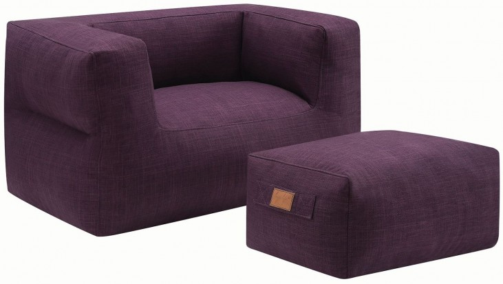 Purple Ottoman and Chair
