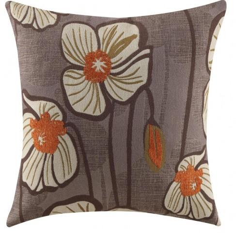 905045 Purple Floral Accent Pillow Set of 2