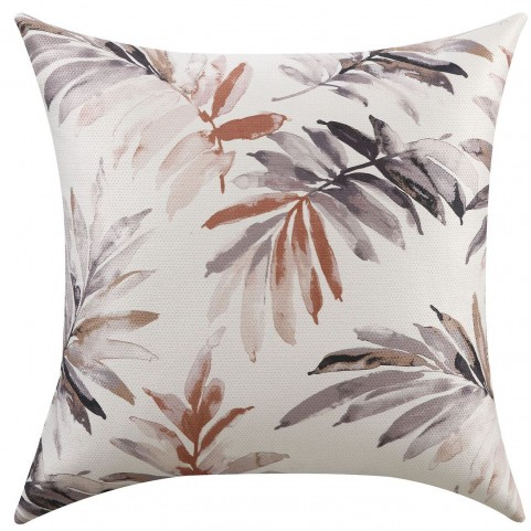 Red And Purple Watercolor Leaves Accent Pillow Set of 2