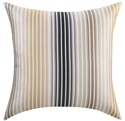 Brown Thin Stripes Accent Pillow Set of 2