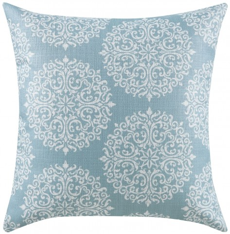 Sky Blue and Oatmeal Accent Pillow