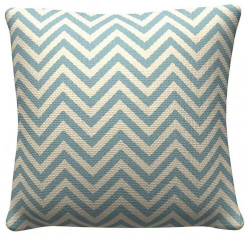 905309 Light Blue Chevron Pillows