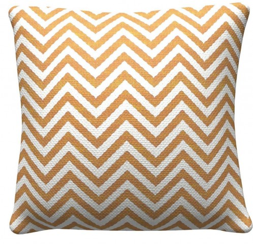905310 Orange Chevron Pillows