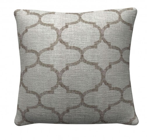 905316 Grey Quatrefoil Pillows Set of 2