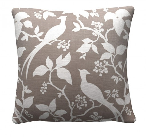 905317 Grey Floral Pillows Set of 2