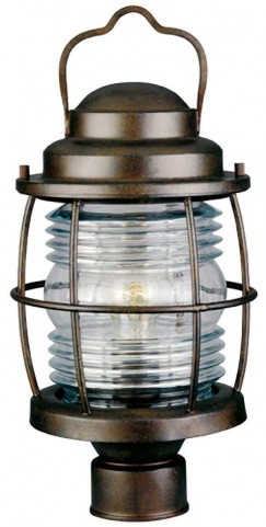 Beacon Gilded Copper Post Lantern
