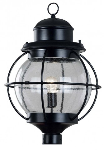 Hatteras Black 1 Light Post Lantern