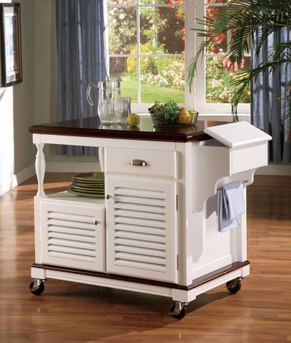 White Kitchen Island 910013