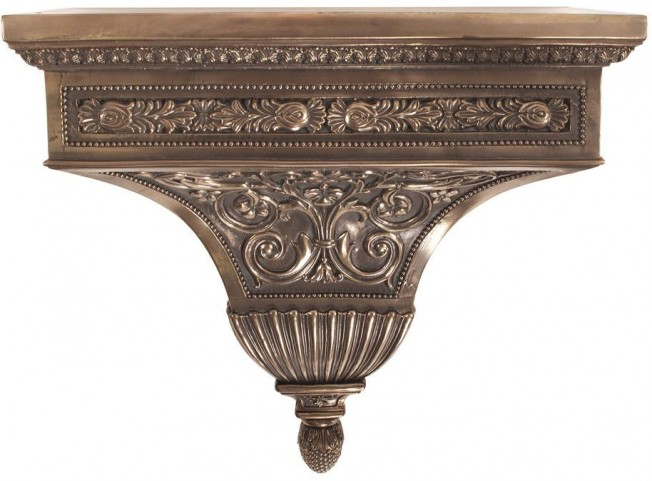 Ornate Bronze Rectangle Wall Shelf