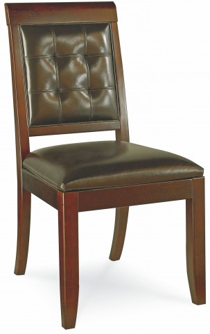 Tribecca Root Beer Upholstered Leather Side Chair
