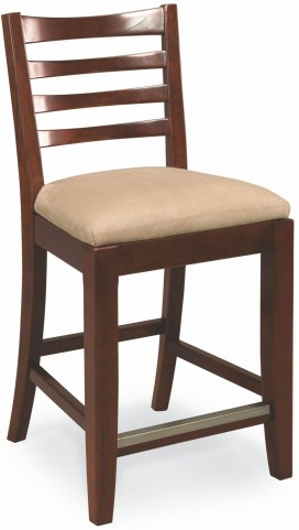 Tribecca Root Beer Splat Back Counter Stool