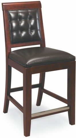 Tribecca Root Beer Leather Counterstool