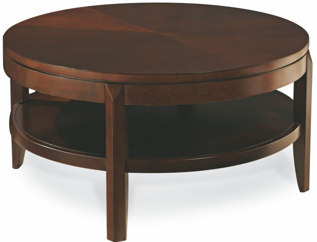 Tribecca Root Beer Round Cocktail Table