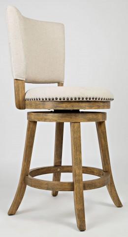Turner's Landing Upholstered Back Swivel Stool Set of 2