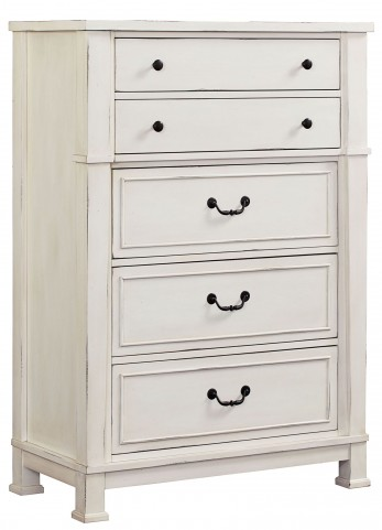 Chesapeake Bay Vintage Chalk White Drawer Chest