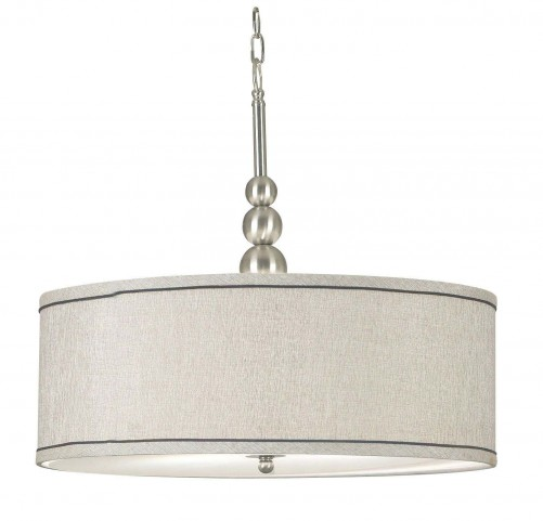 Margot Brushed Steel 3 Light Pendant